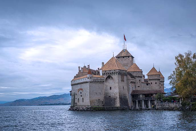 chateeau de chillon, montreux swiss castle
