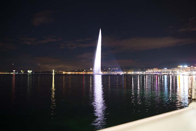 Jet d'Eau giant geneva fountain