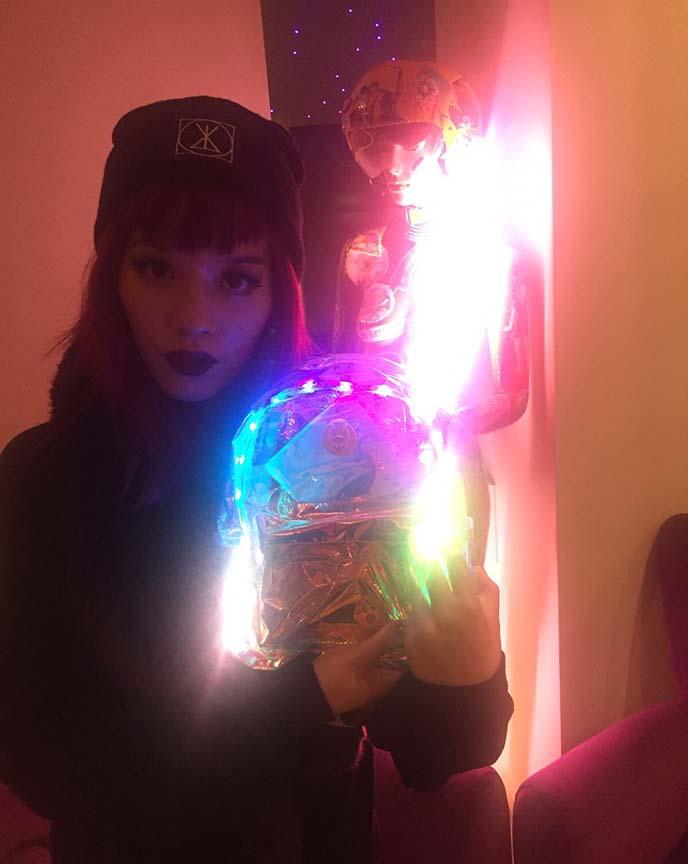 club fashion burning man backpack light up