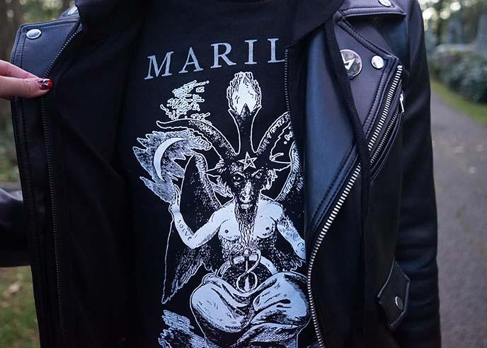 marilyn manson devil t-shirt