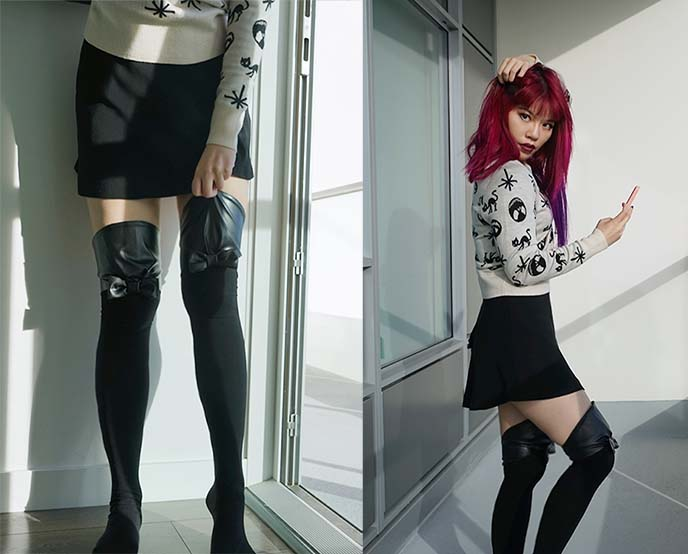 girardi over knee socks, kneehigh stockings