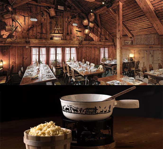 chalet gruyere cheese fondue restaurant