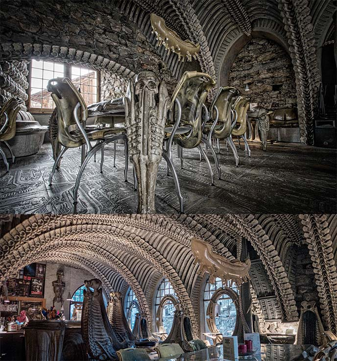 giger bar tables windows interior
