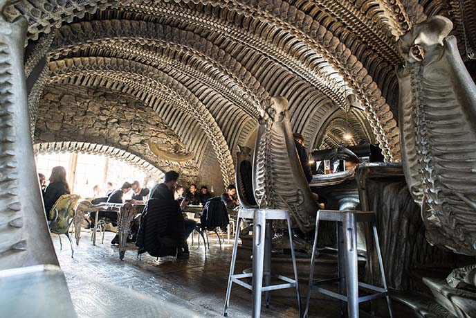 giger bar spine shell chairs
