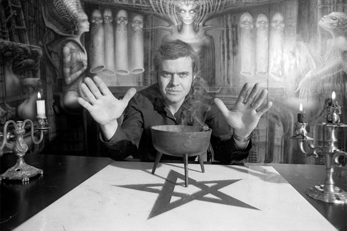 hr giger satanism occult pentagram