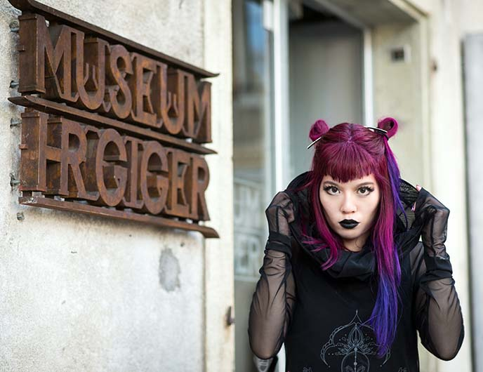 hr giger museum entrance sign