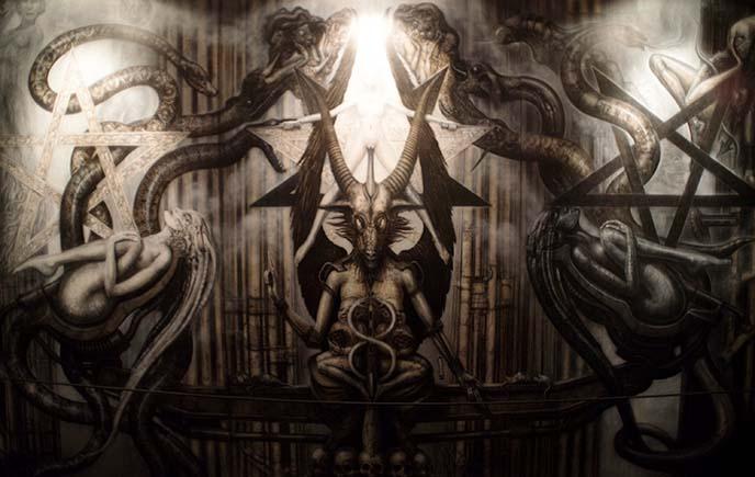 hr giger necronomicon satan devil baphomet