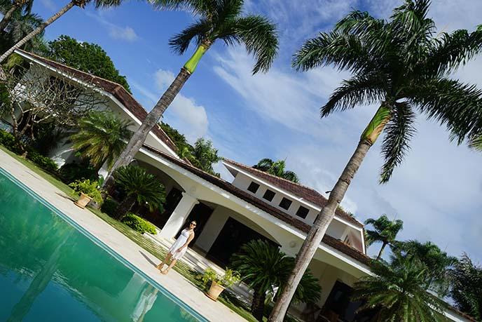 dominican republic oceanfront villa pool
