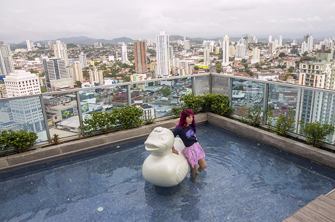 rooftop swimming pool panama city