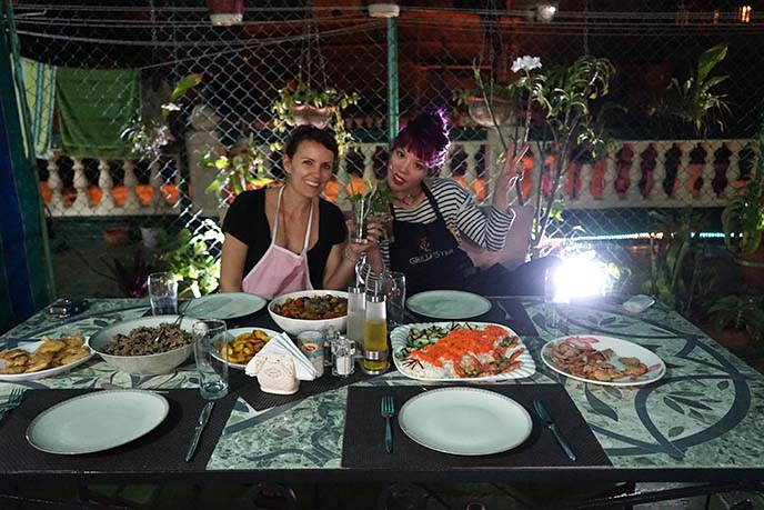 authentic cuban local dinner