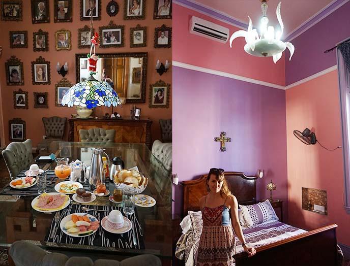 breakfast hostel angel havana cuba