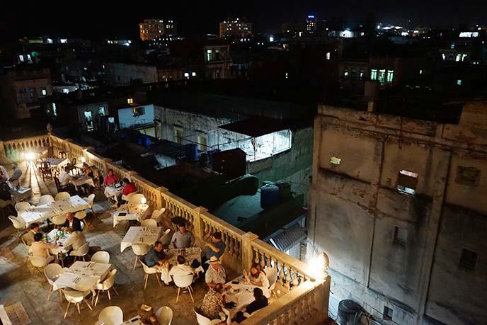 outdoor dining havana cuba balcony