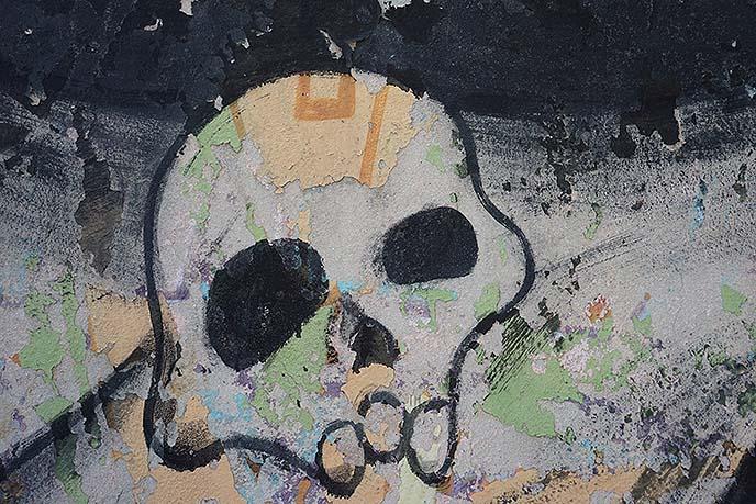 goth skull cuba graffiti