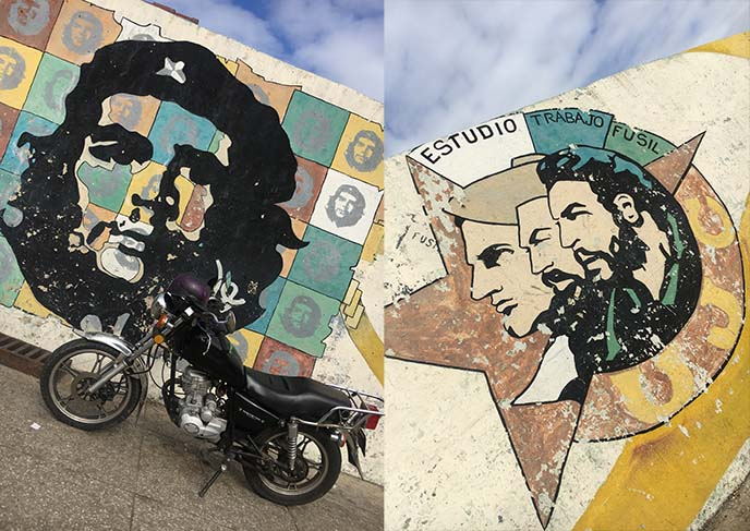 che guevara revolutionary murals havana