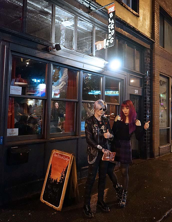 david lynch theme bar diner