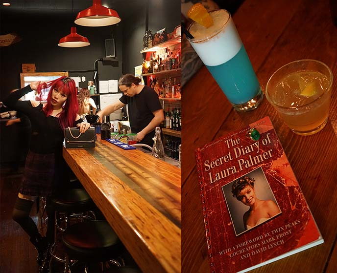 laura palmer book, twin peaks cocktails
