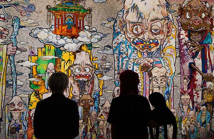 murakami 500 arhats buddhist artwork