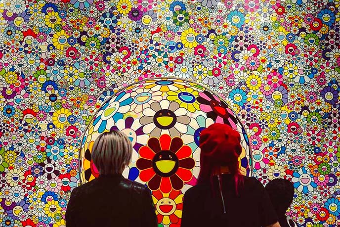 Takashi Murakami vancouver art gallery flowers