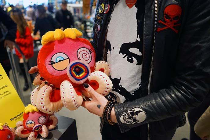murakami octopus stuffed toy plush