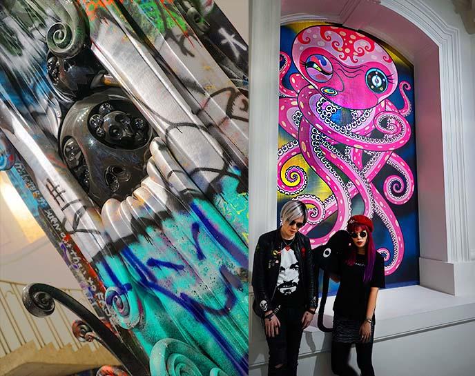 murakami octopus paintings sculpture