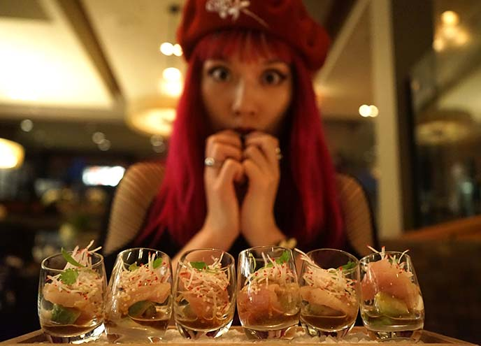 hamachi shooter shots alexander steakhouse