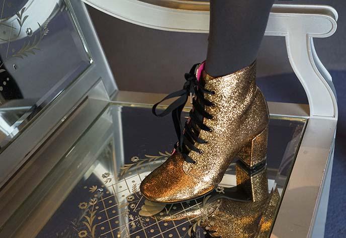 gold sparkle glitter boots