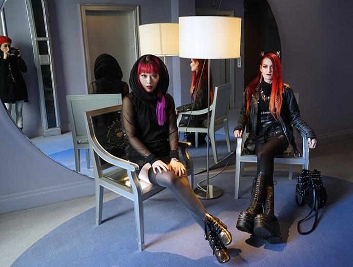 goth girls cyber fashion gothic