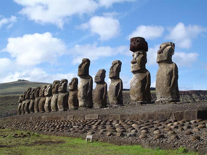 easter island moai stone statues