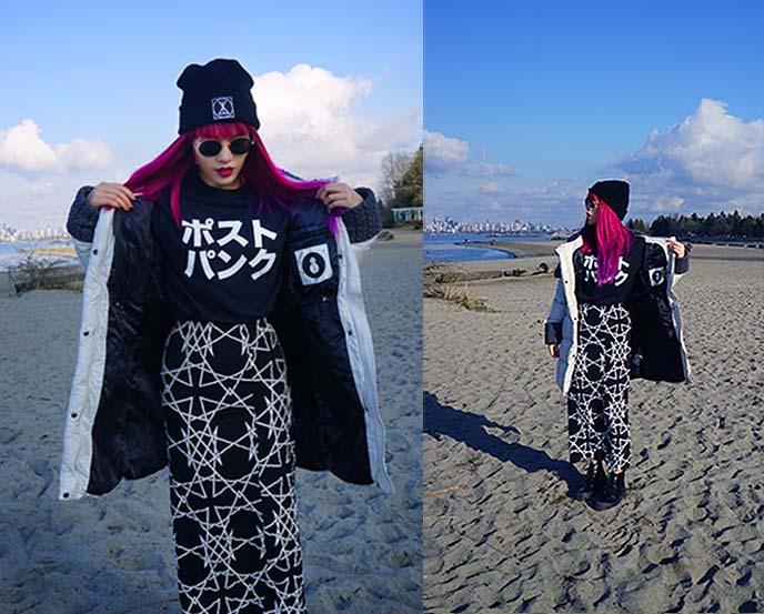 japanese post punk tshirt top