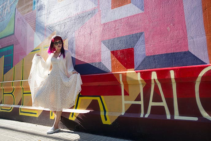 rainbow walls buenos aires fashion blogger