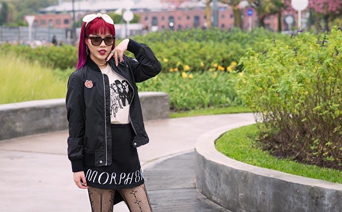 morph8ne skirt, goth street style