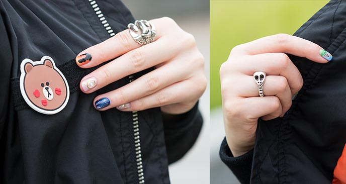 goth gothic silver ring rock metal jewellery