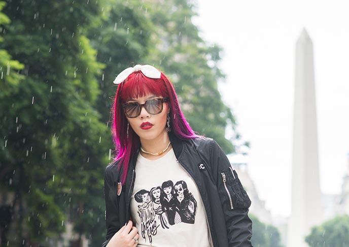 argentina buenos aires obelisk goth girl blogger