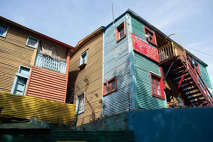 la boca rainbow colorful shacks