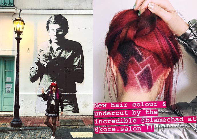 purple undercut goth undercuts hair