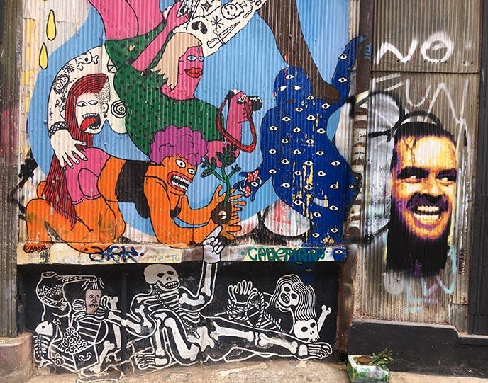 jack nicholson shining johnny mural