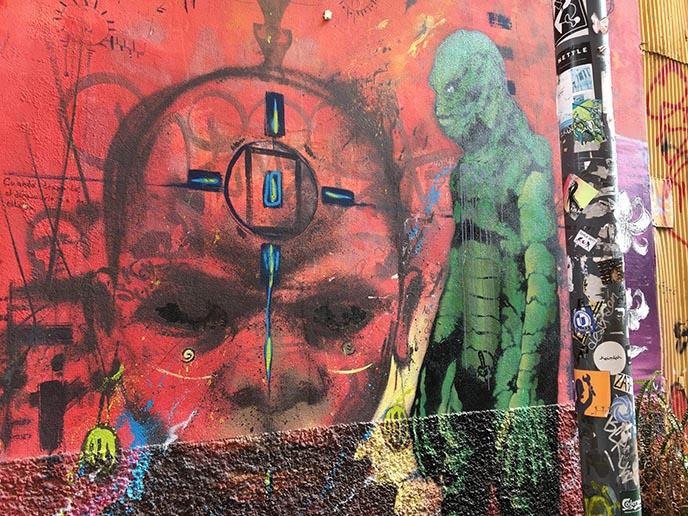 cybergoth horror murals