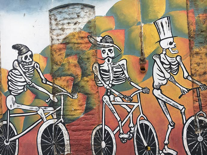 day of the dead mural