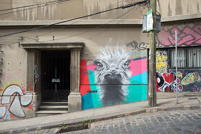 valparaiso art walk chile