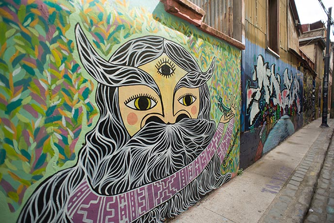 cool chile streets art