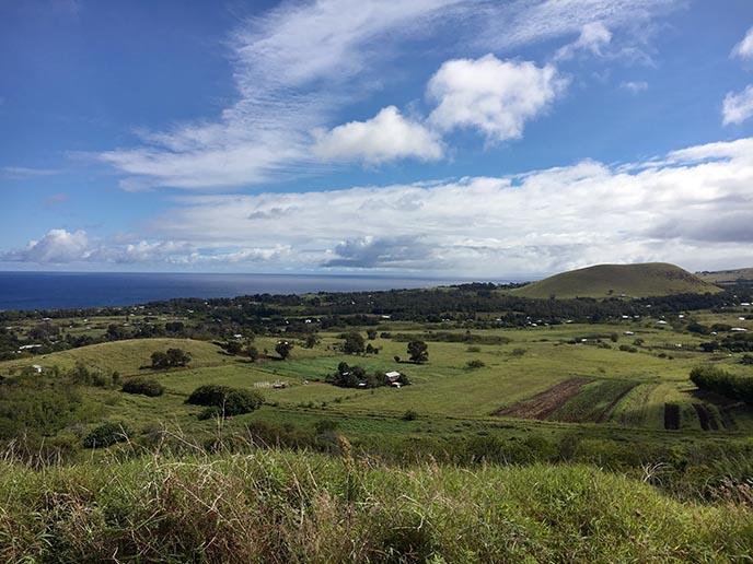 easter island panorama ocean view