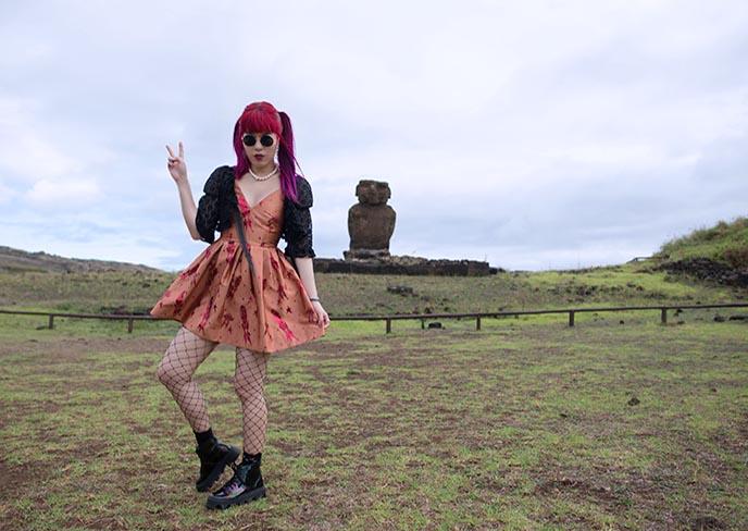 girl woman easter island fashion modeling