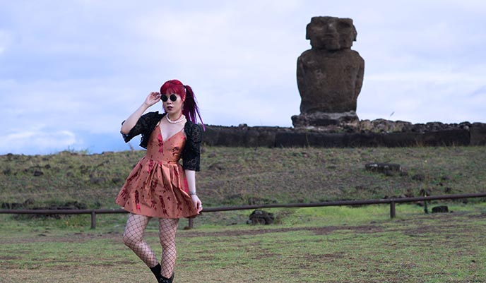 easter island travel blog female outfit