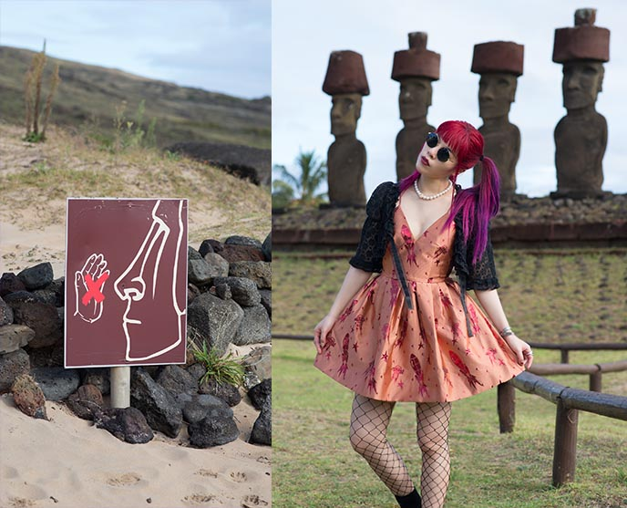 easter island signs, statues wearing hats, funny cute moai easter island weird