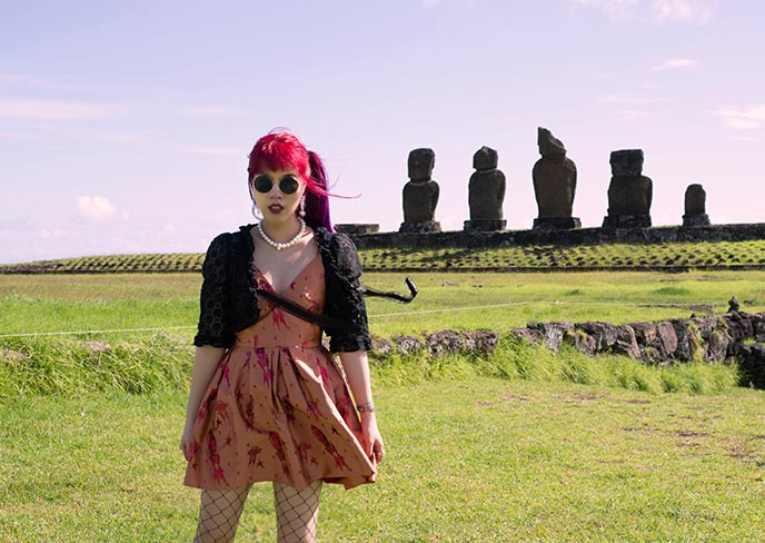 easter island best sunset location moais