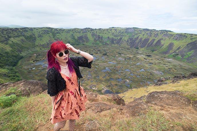 ranu kau rapa nui crater