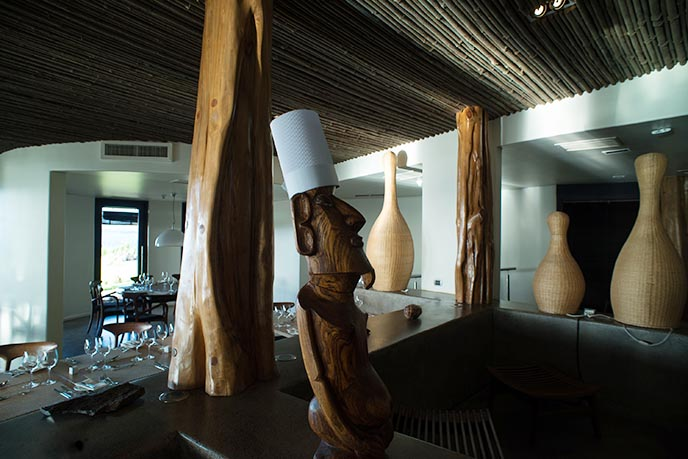 moai stone head chef funny