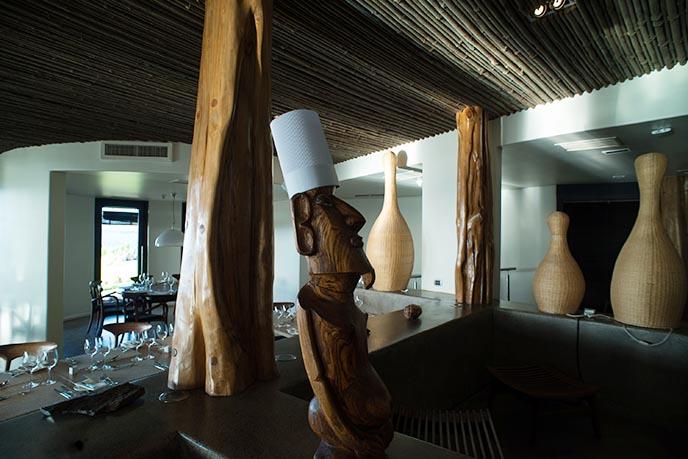 moai stone head chef funny