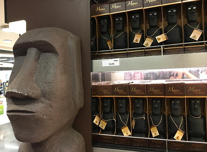 easter island liquor bottles moai