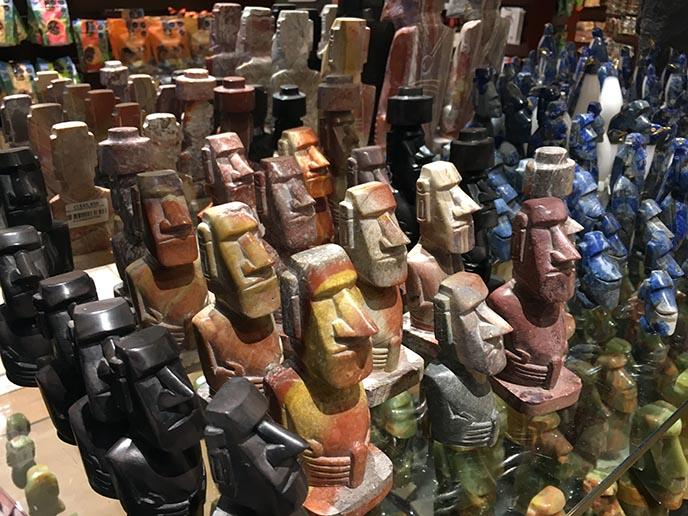 moai stone faces souvenirs easter island